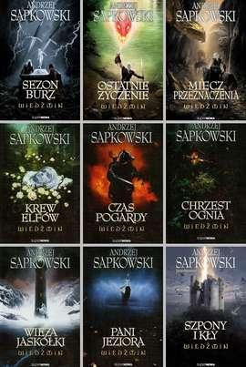 [BookPaka] 9 x Wiedźmin Saga Andrzej Sapkowski Pakiet